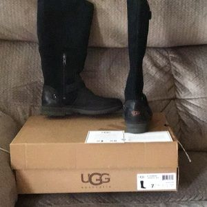 UGG Thomsen Faux Shearling & Suede Boots